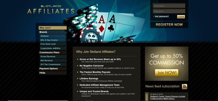 Slotland-Affiliates-Affiliate-Program - Gambling affiliate programs