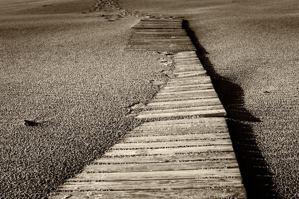 Holzstege am Strand, Bergen aan Zee– No. 5 // Foto: © Ulf Cronenberg, Würzburg