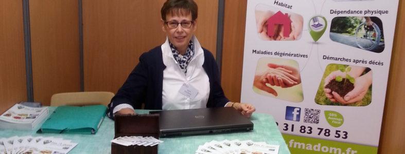 fmAdom Françoise Mazire-Grenier Stand Salon des Seniors Caen oct 2018