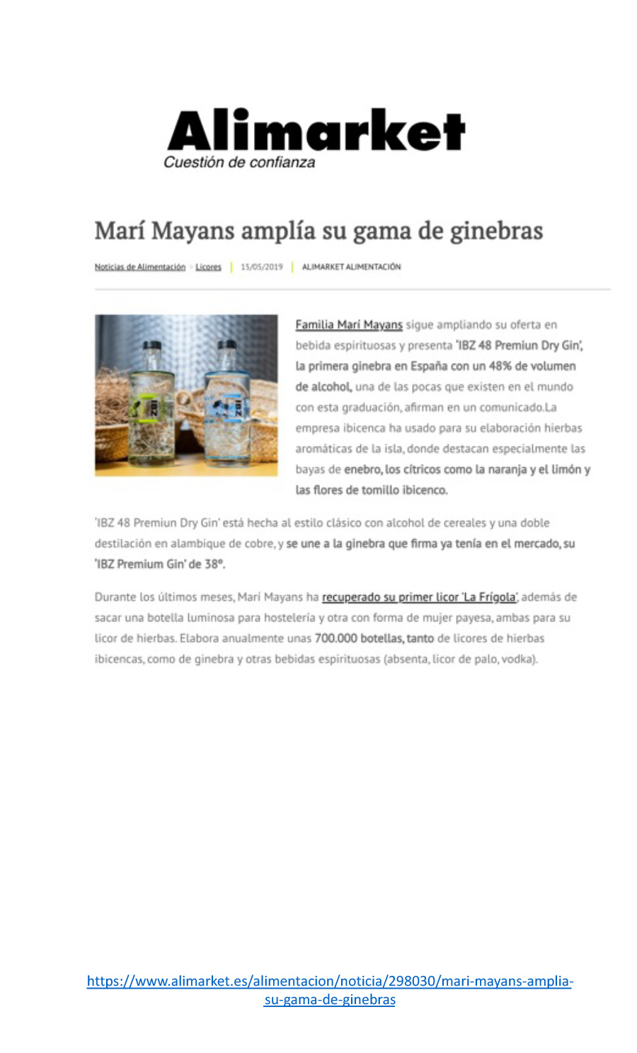 15/05/2019 - Alimarket - Familia Marí Mayans