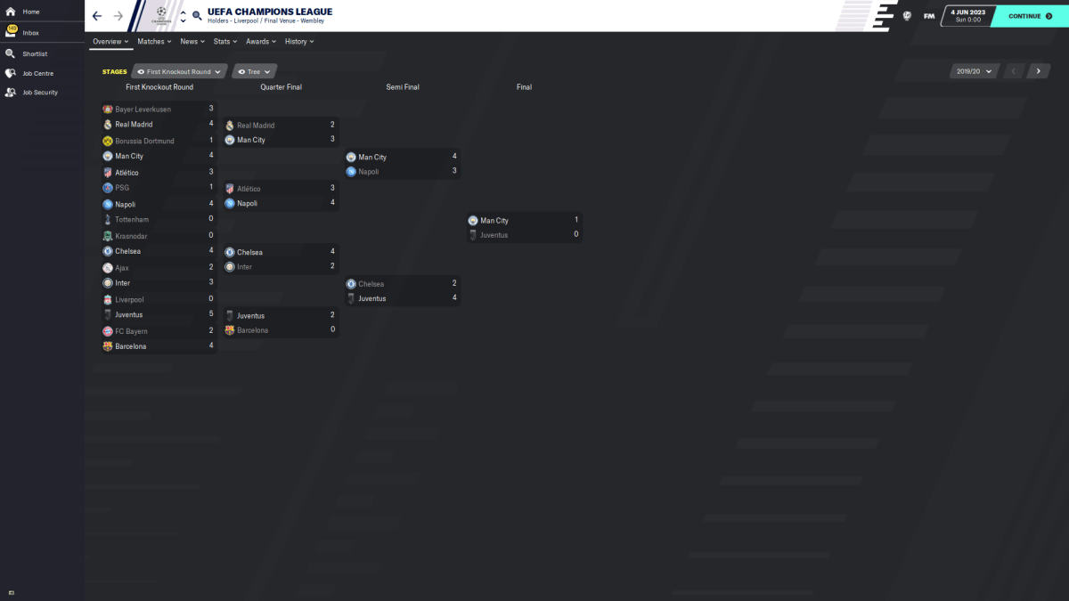 2019/20 CL Knockout rounds