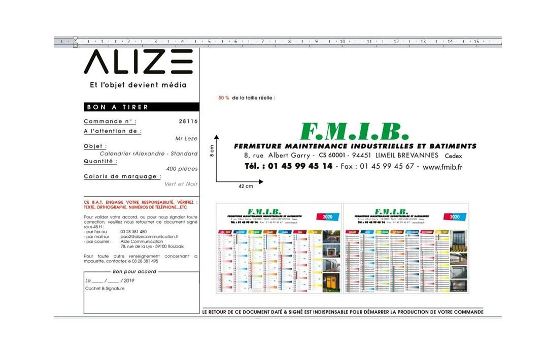 Création des calendriers de fin d'année