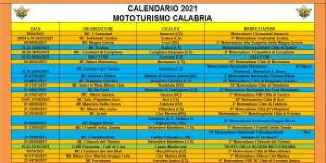 2021 Calendario Mototurismo Calabria