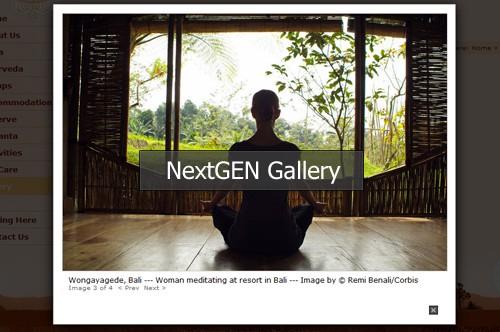 Usando  NextGen Gallery Plugin de WordPress