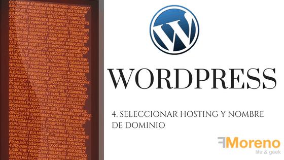 4. Seleccionar hosting y nombre de dominio para WordPress
