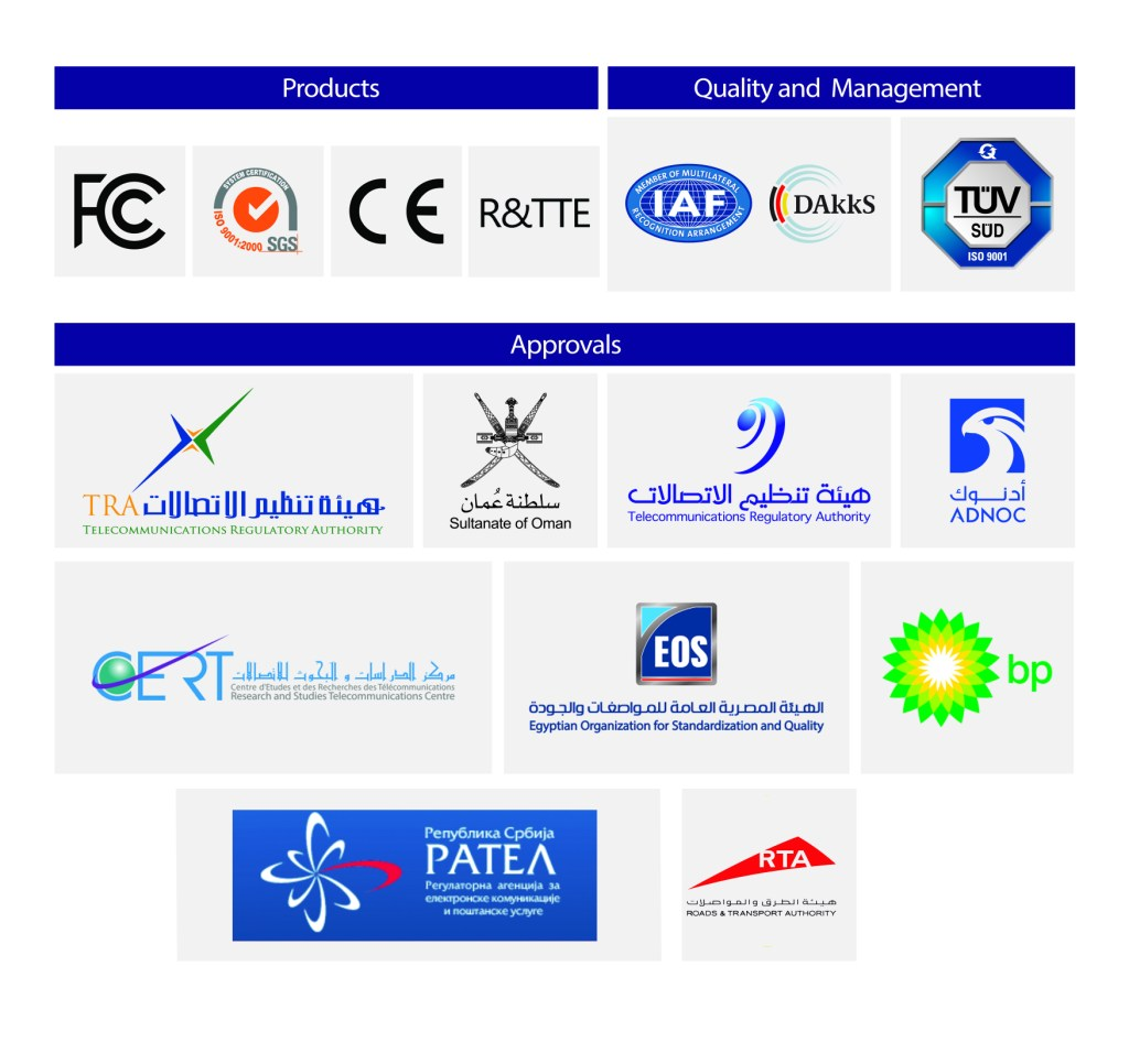 Certifications and Approvals