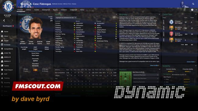 Dynamic skin for FM15