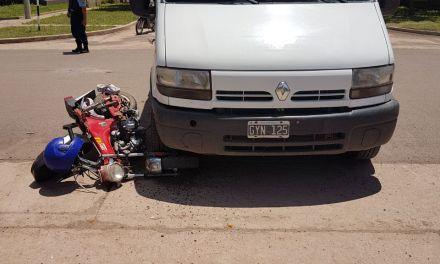 Colisión vial con lesiones leves