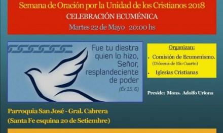 Diócesis de Rio Cuarto e Iglesias Cristianas en celebración Ecuménica