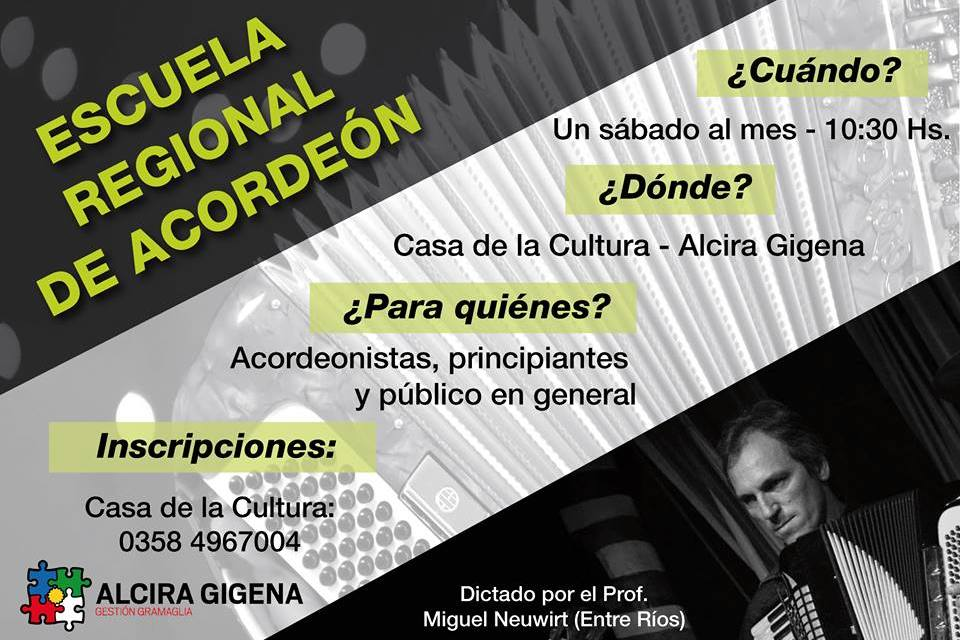 Escuela Regional de Acordeón en Alcira Gigena
