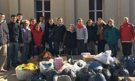 Listado de alimentos y prendas recolectadas durante la campaña solidaria «Un Día Para Dar»