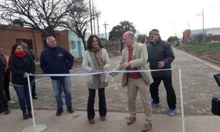 15° calle de adoquín inaugurada en General Cabrera
