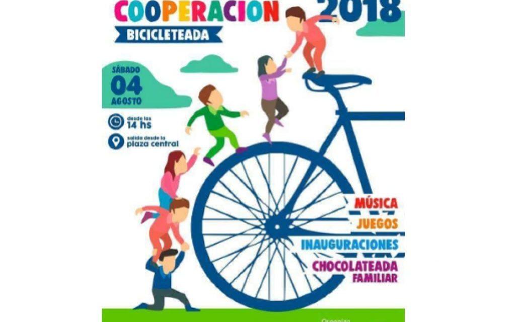 Bicicleteada familiar por el día de la cooperación