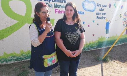 Día de La Fibrosis Quística Jardín presentó mural TODAS NUESTRAS MANOS CON USTEDES