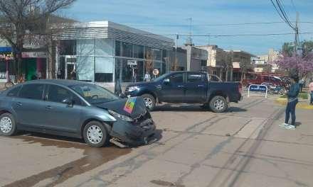 Accidente entre dos vehículos
