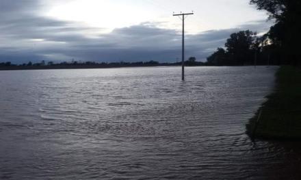 """El Barrio """"Las Lomitas"""" inundado"""