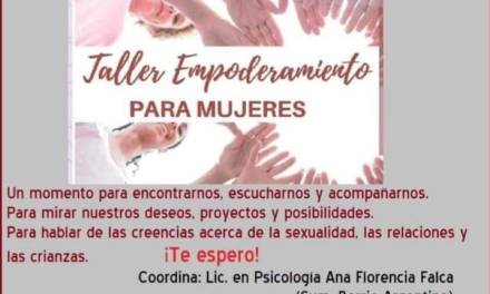 Taller de empoderamiento para Mujeres en el SUM de B° Argentino