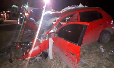 Chucul. Accidente sobre Ruta 158