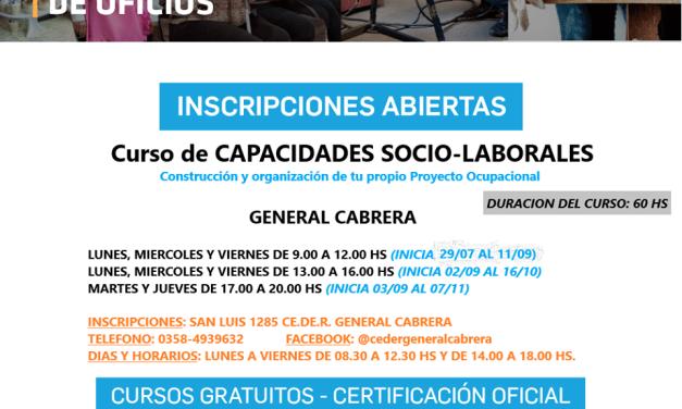 CURSO DE CAPACIDADES SOCIO-LABORALES EN EL CEDER GRAL. CABRERA