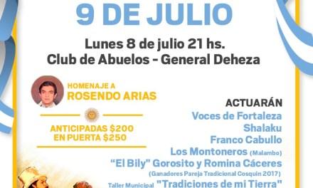 Gral. Deheza: Peña «Esperando el 9 de Julio» en el Club de Abuelos