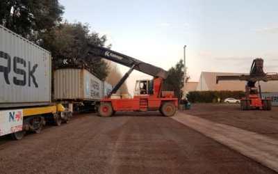 PRODEMAN realizó su primera carga de contenedores por ferrocarril