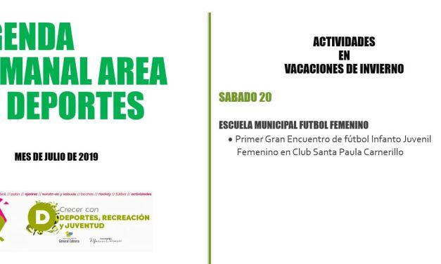 Carnerillo: Encuentro de fútbol infanto juvenil femenino en el Club Santa Paula