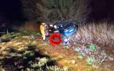 Accidente en el acceso sur de Gral.Cabrera