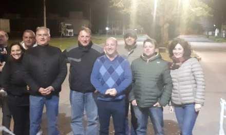 INAUGURACION DE LUCES LED EN EL BULEVARD BUENOS AIRES