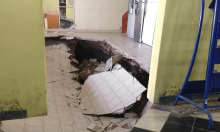 Cedió el piso en el local de Electricidad Acevedo