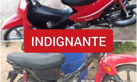 CABRERA: UNA JOVEN PUBLICÓ EL ANTES Y EL DESPUÉS, LE ROBARON SU MOTO, SE LA ENTREGARON DESARMADA.