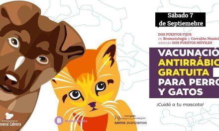 Capaña de vacunación antirrábica – Sábado 7 de septiembre