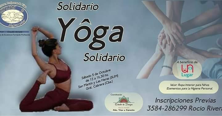Yoga solidario a beneficio de Un Lugar