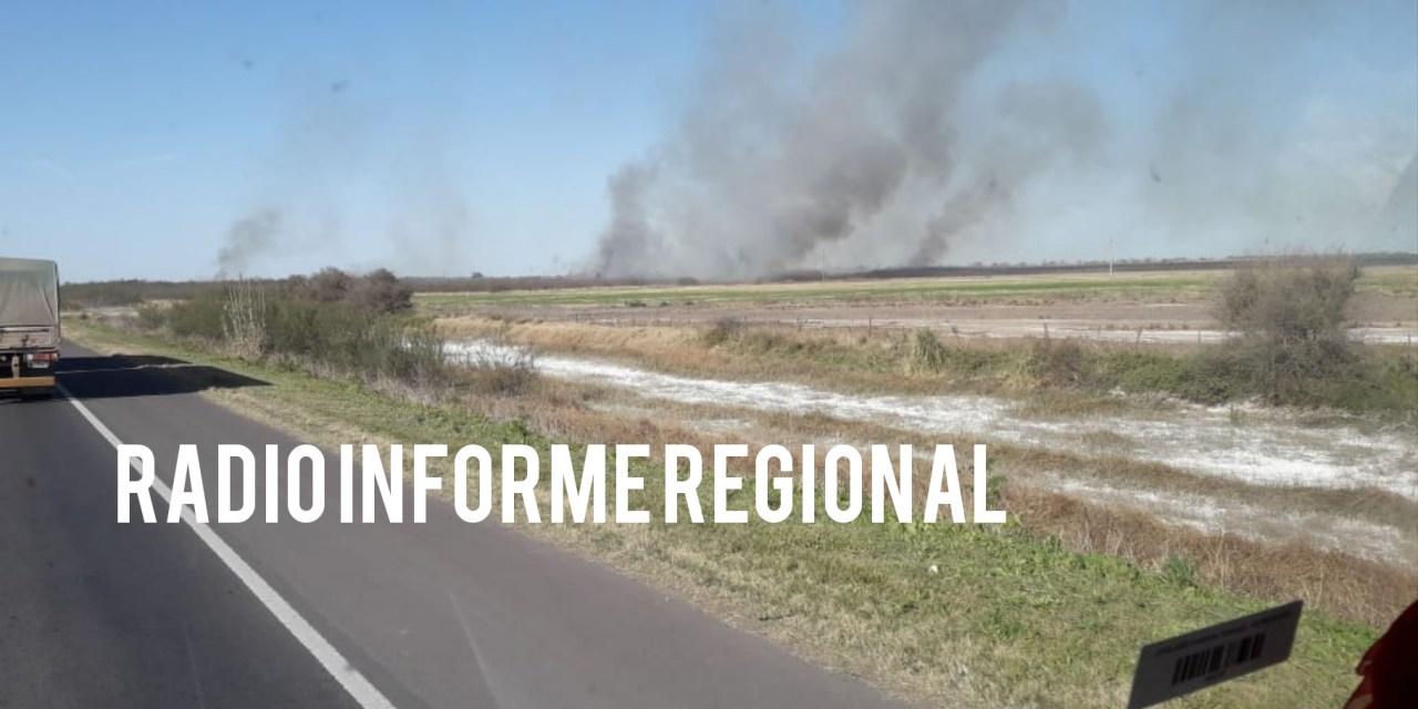 Las Perdices: Incendio a la altura de Arroyo Tegua
