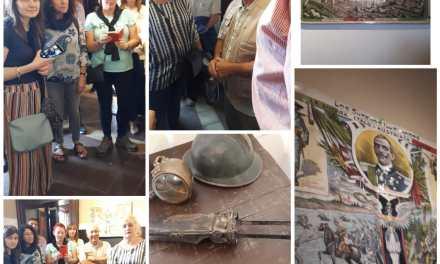 El contingente que llegó de Italia, recorre el Museo de Gral. Cabrera
