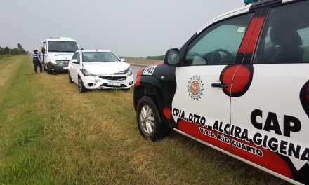 Alcira Gigena: Accidente en la autovía