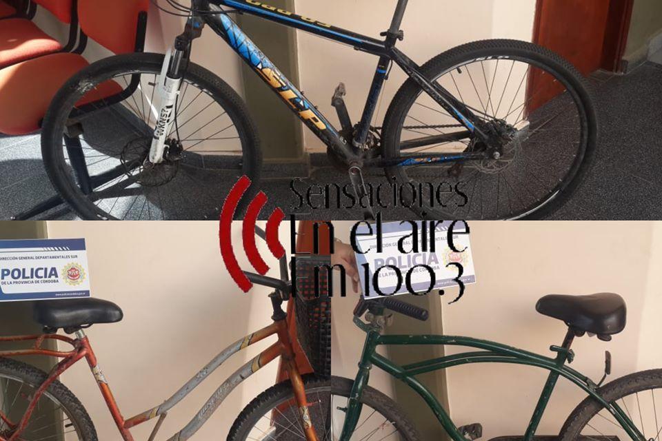 3 menores de Cabrera robaron bicicletas en Deheza, ya fueron secuestradas