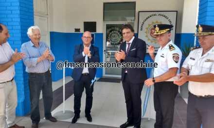 Acto inauguración de remodelación en sede policial y entrega de nuevo móvil
