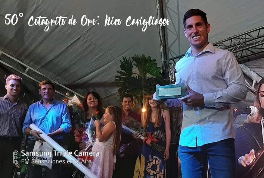 Cotagrito de oro para Nicolás Cavigliasso en los 75 años de Cotagro!!!