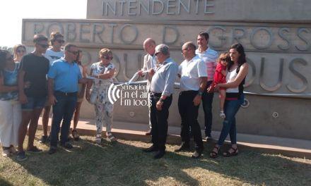 Inauguraron el nuevo cartel al ingreso del Parque Industrial «Roberto Grosso»