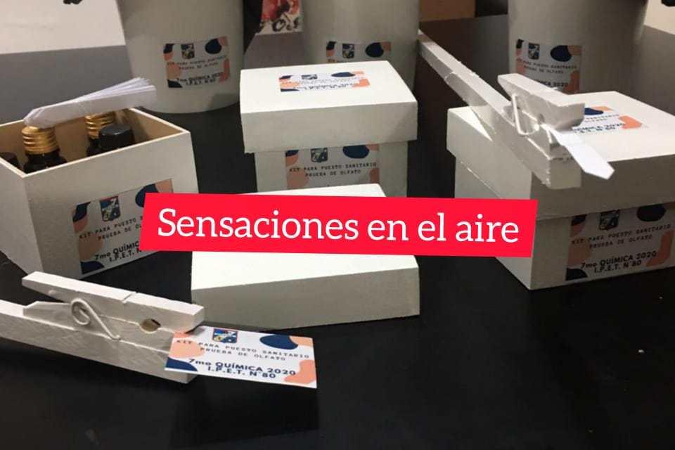 Covid-19: Alumnos del IPET80 de Berrotarán crearon el «Test de olfato»