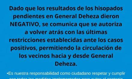 Cabrera: Las últimas restricciones quedan sin efecto