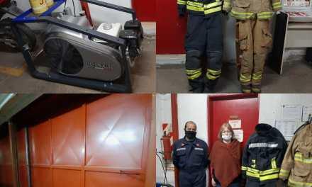 Nuevo equipamiento y equipos estructurales para Bomberos