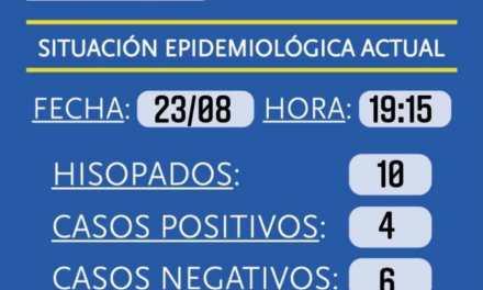 Cabrera: 4 nuevos casos, 754 aislados, 3 hospitalizados