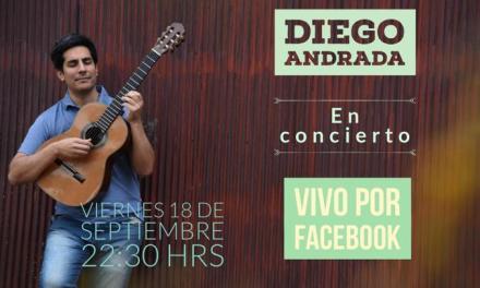 Diego Andrada brindará un concierto por Facebook Live