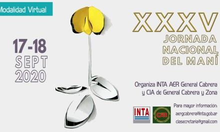 Jueves y Viernes se desarrolla la XXXV Jornada Nacional del Maní «virtual»