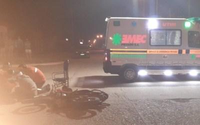 Accidente entre un vehículo y una motocicleta – persona lesionada