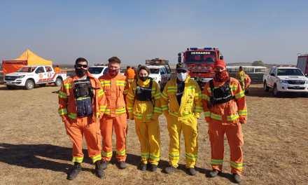 Bomberos de Cabrera prestaron colaboración en incendios en Alta Gracia
