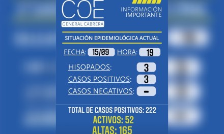 Cabrera: Situación epidemiológica hoy