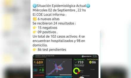 Deheza: situación epidemiológica