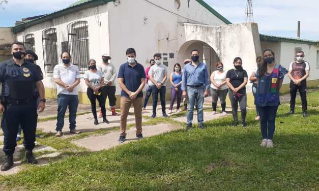 Recorrido y evaluación de los daños en la escuela Rural Mariano Moreno